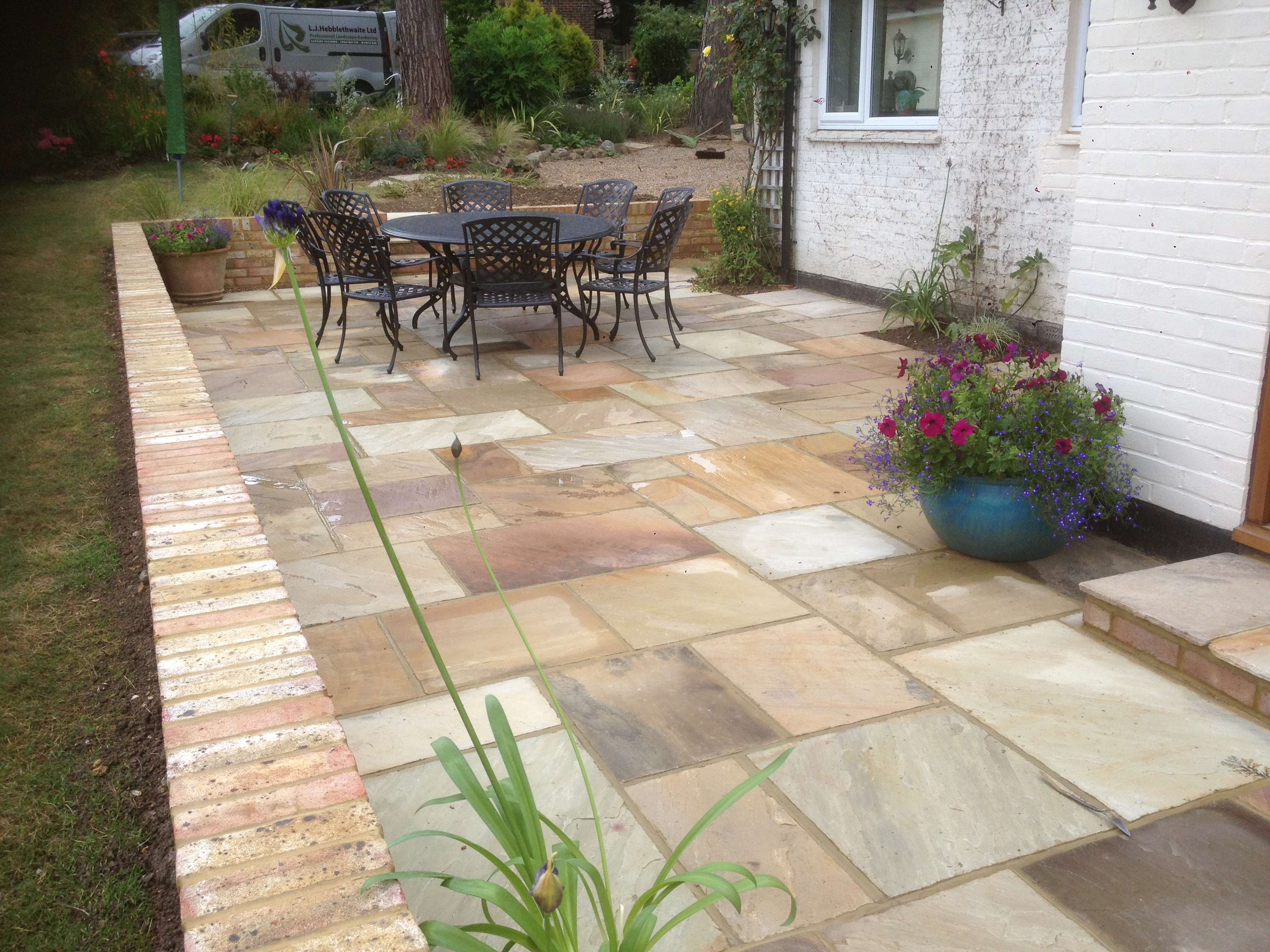 New patio installed by L J Hebblethwaite Ltd in Horsham