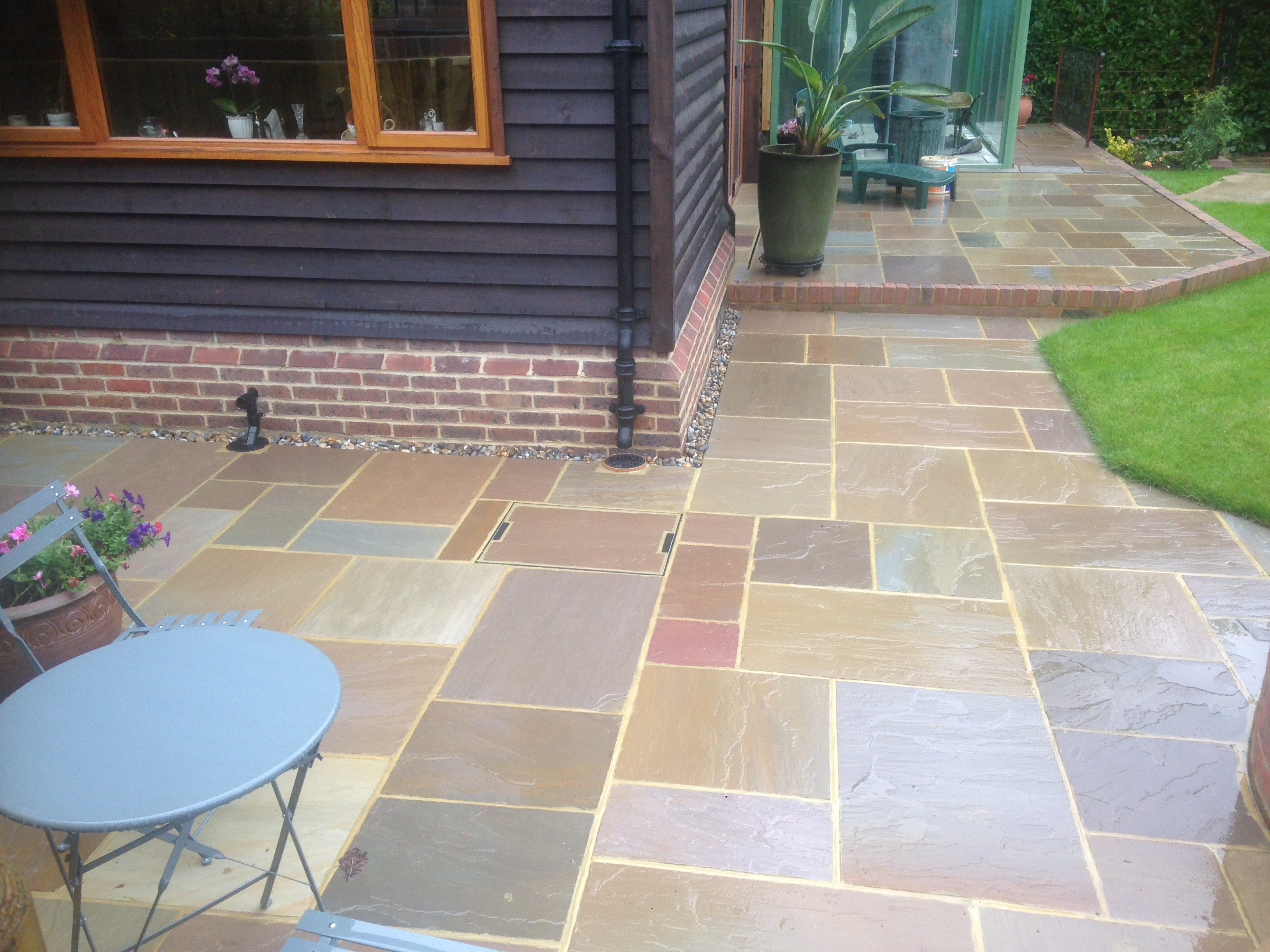 two tiered patio in the horsham area