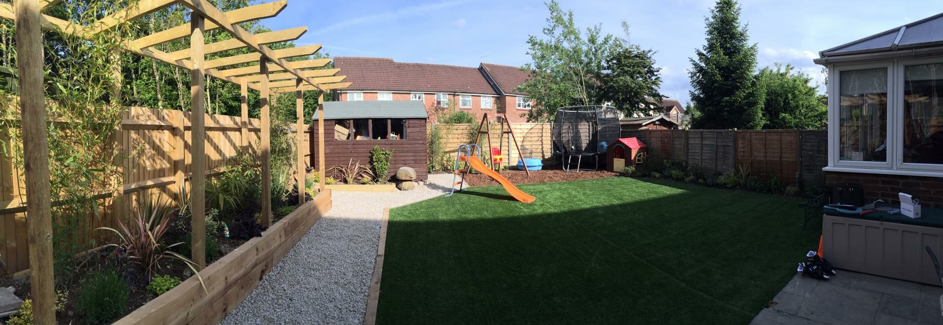 Garden makeover in horsham area, child friendly