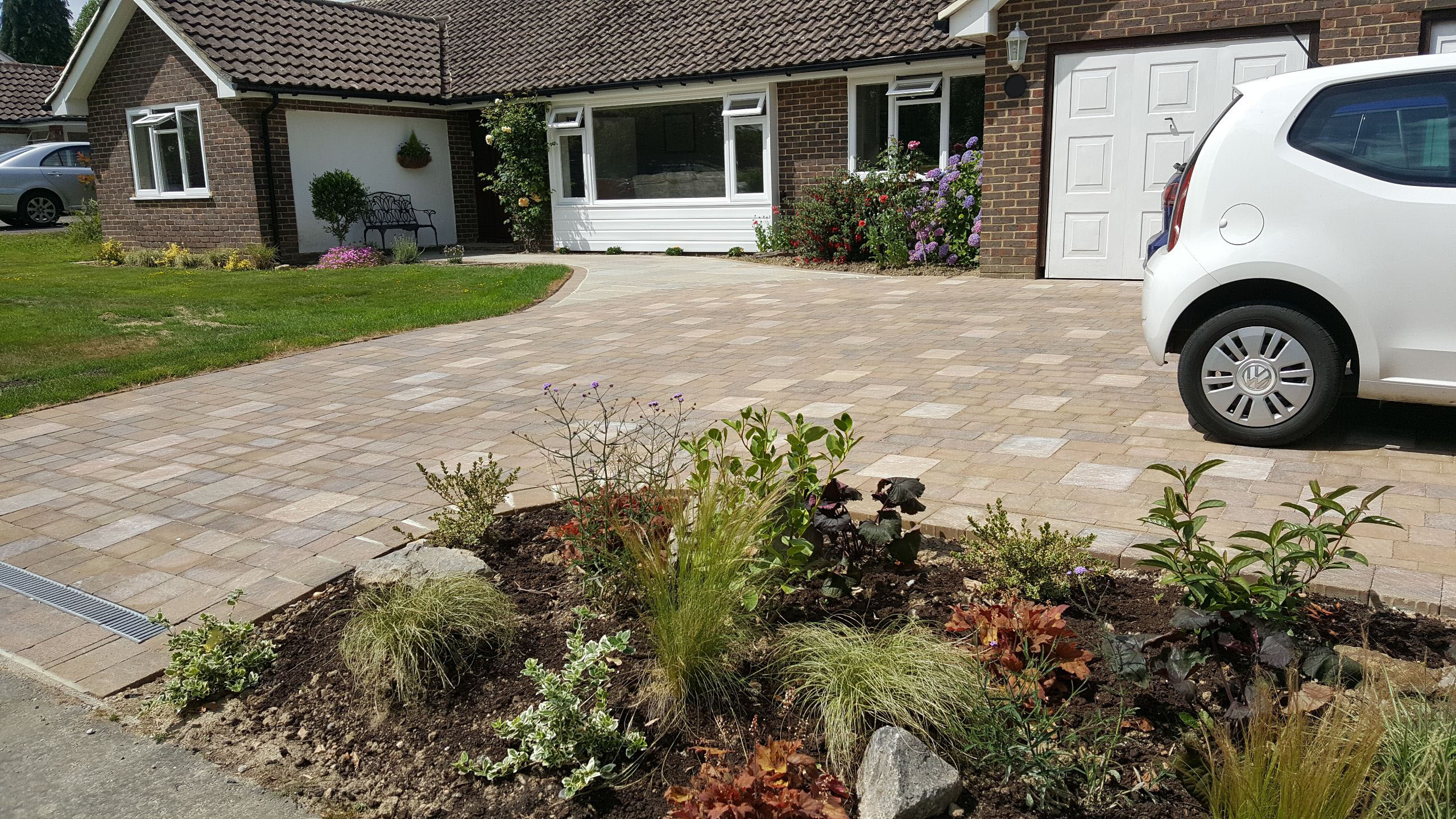 New driveway installed and designed in horsham area