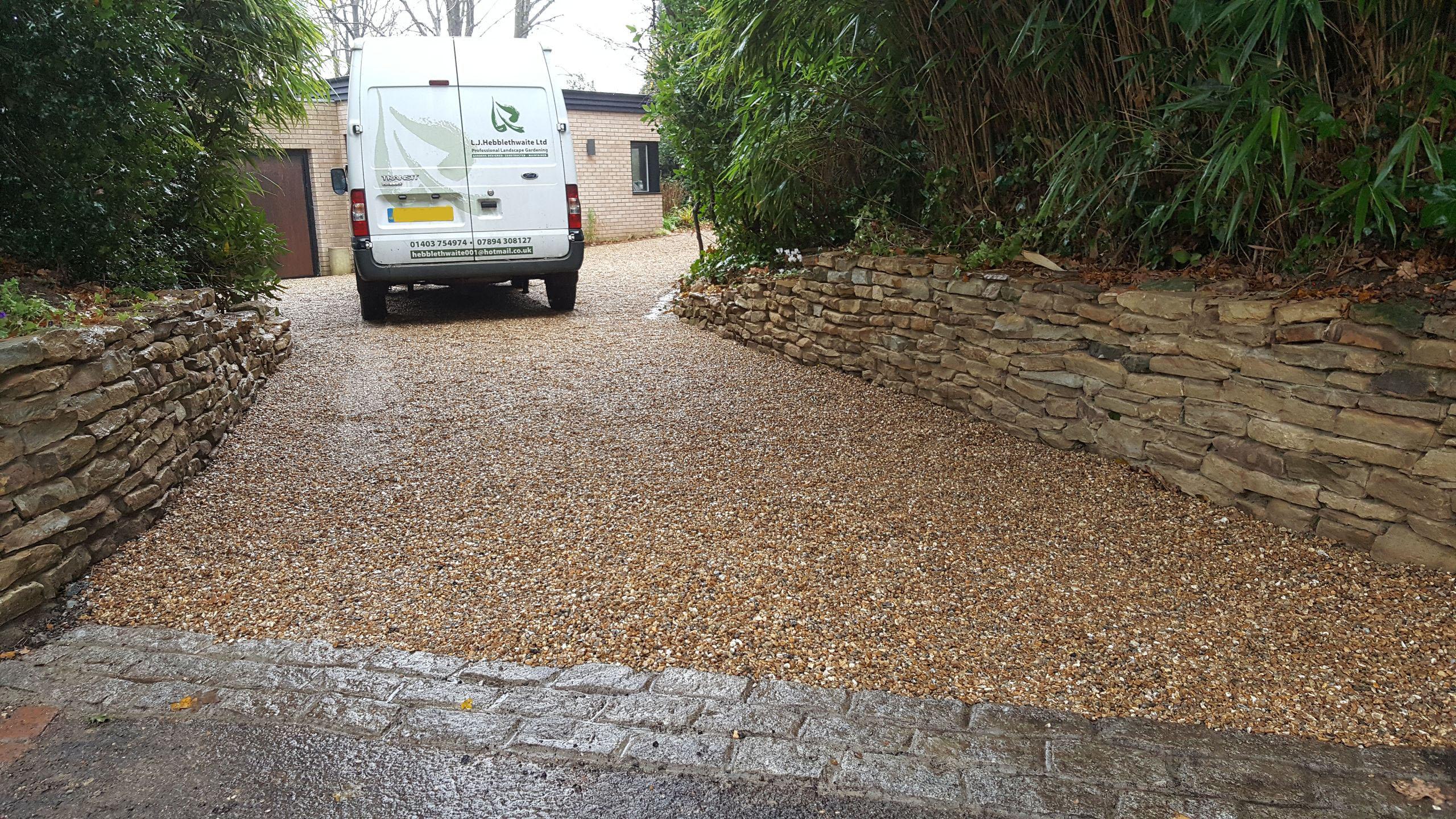 New shingle driveway