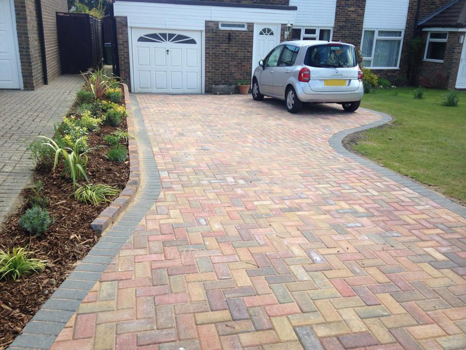 Brick driveway installed in horsham area