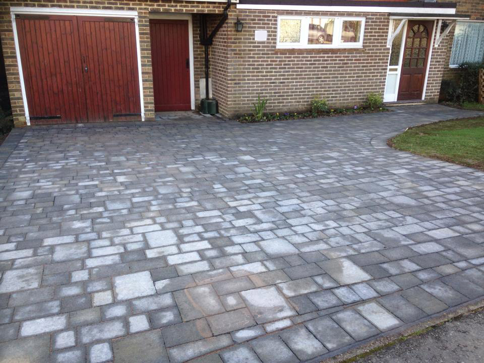 Driveway installed with grey stone in Horsham