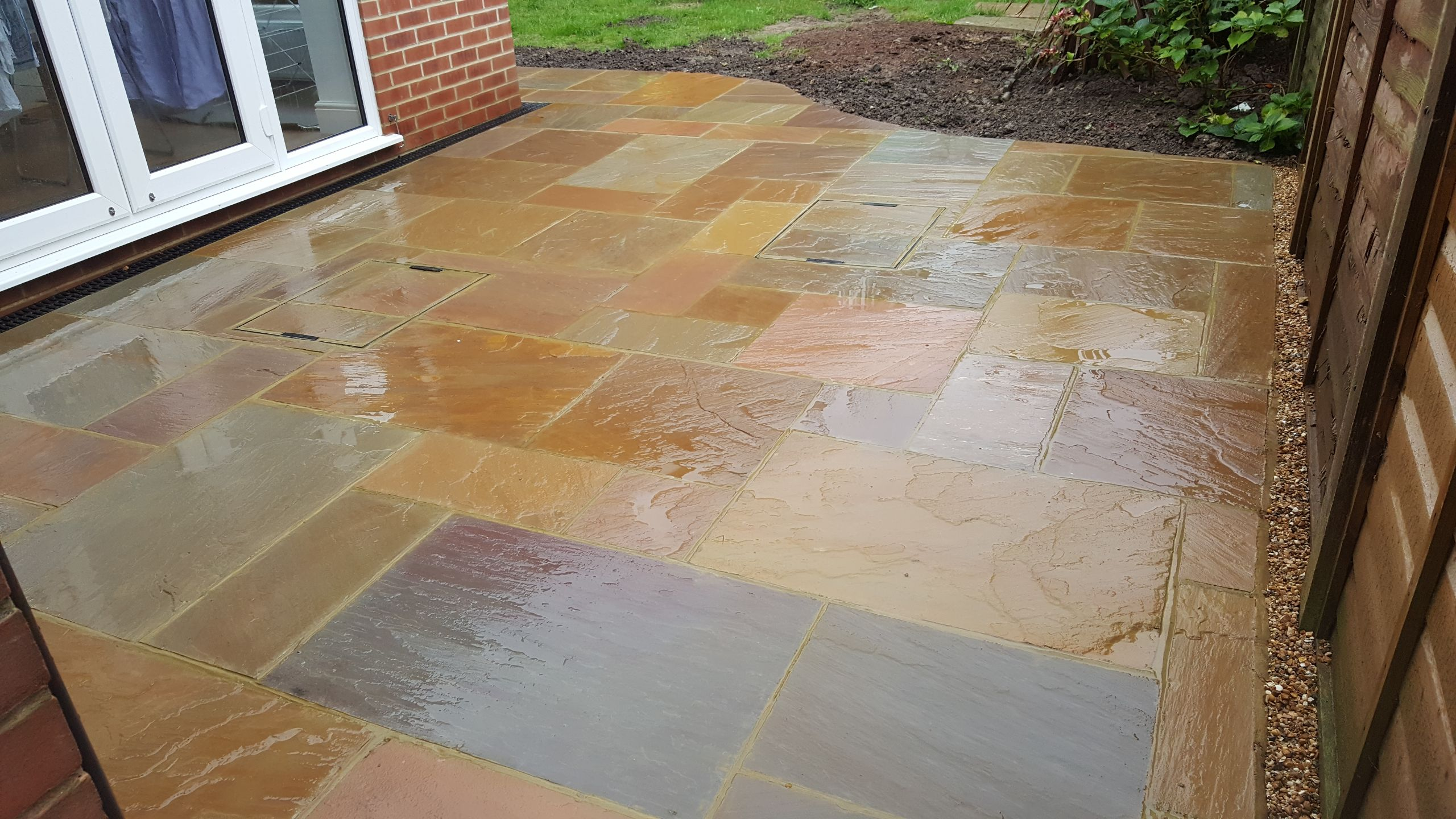 Curved Patio installation