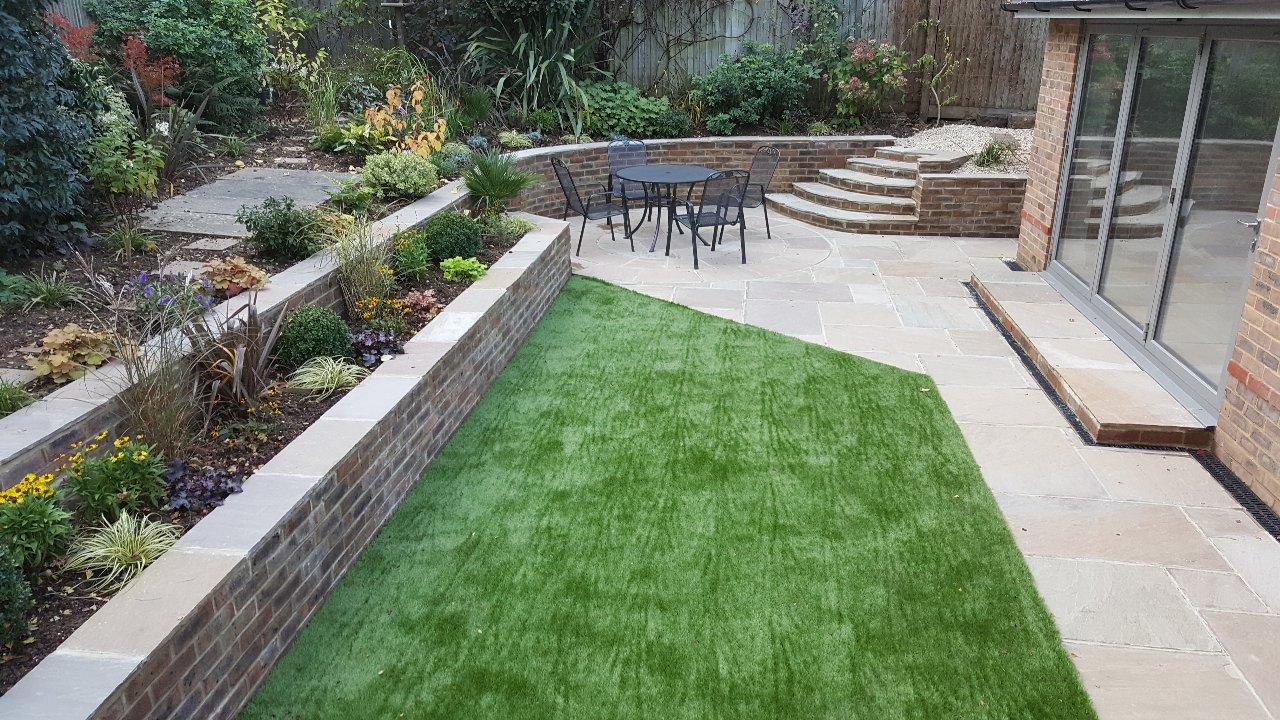 Landscaped garden to turn unusable space into a dream garden