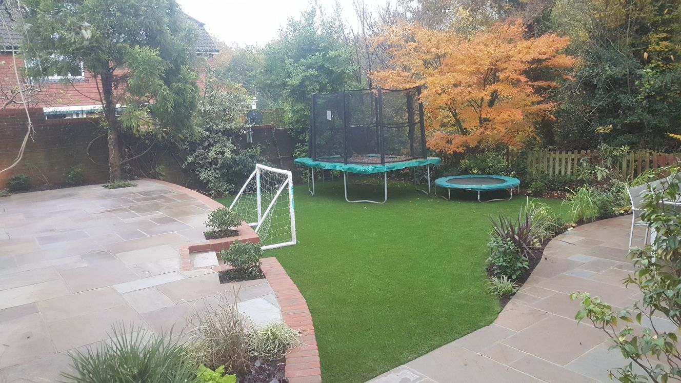 revitilised garden after landscaping