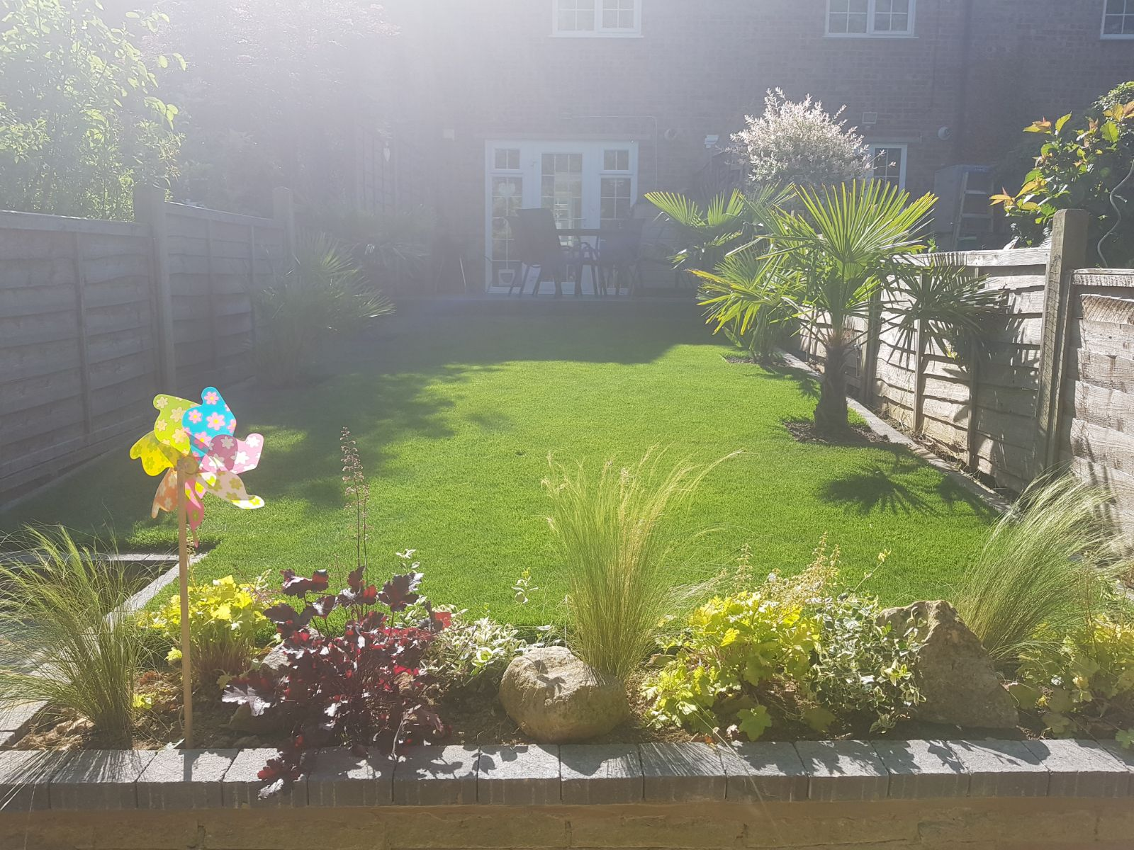 sun drenched garden newly designed