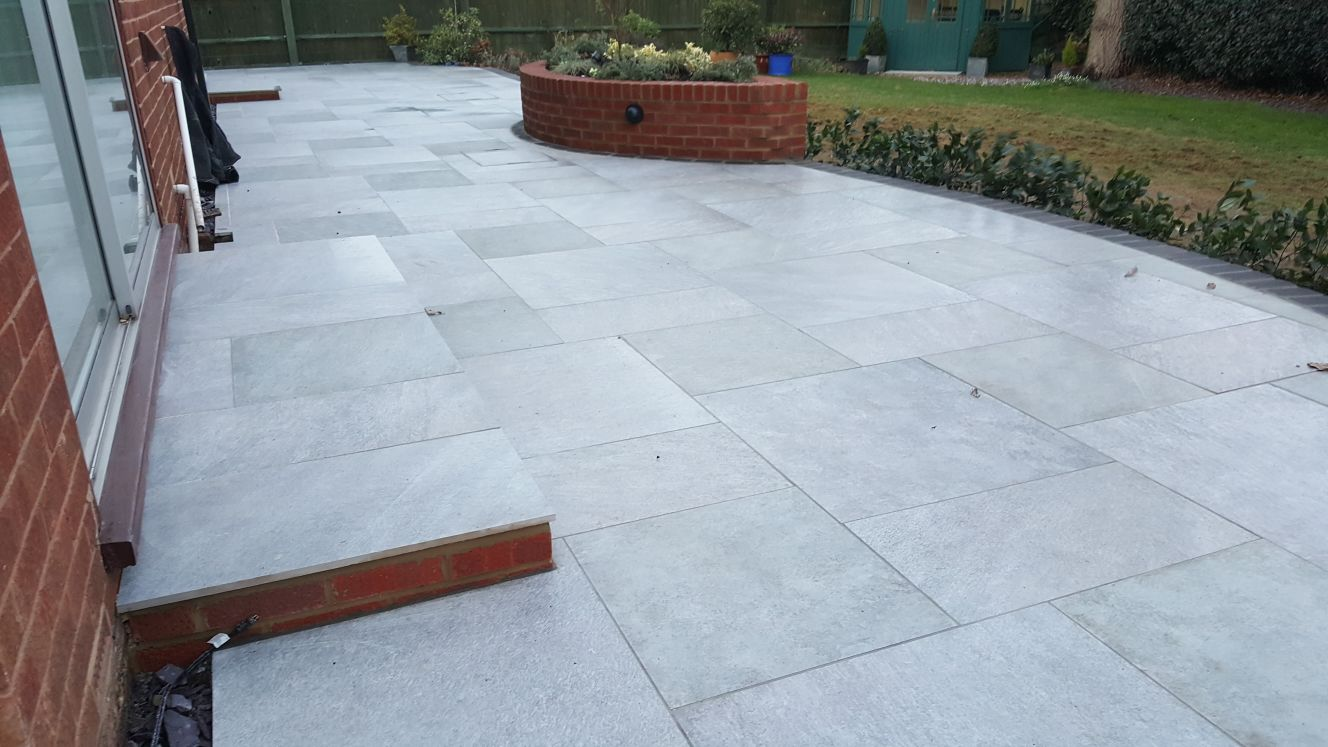 New Patio using porceline slabs in Horsham area