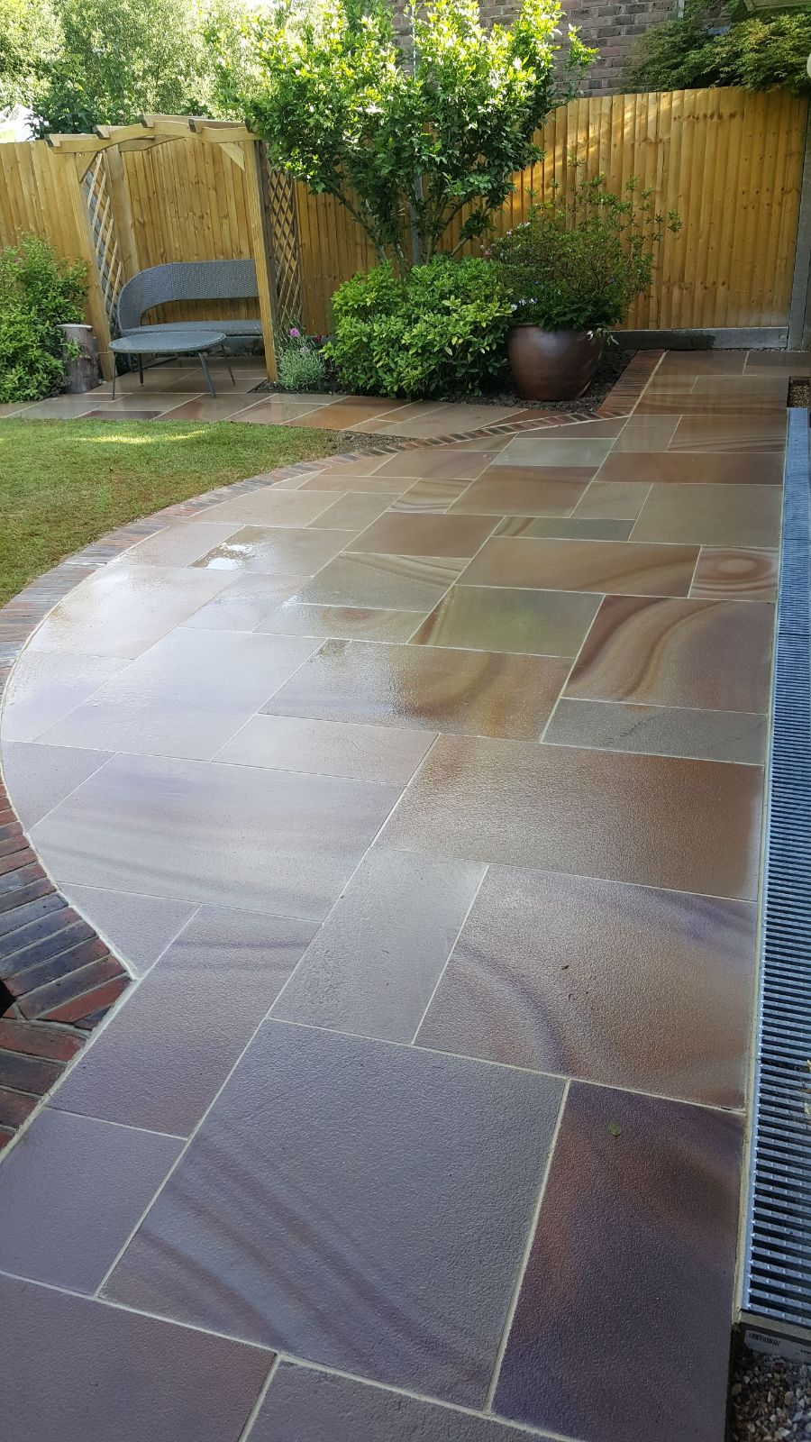 New Patio installed in the horsham area