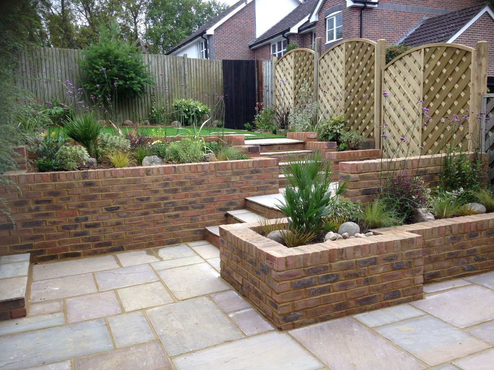Landscaped garden in the horsham area